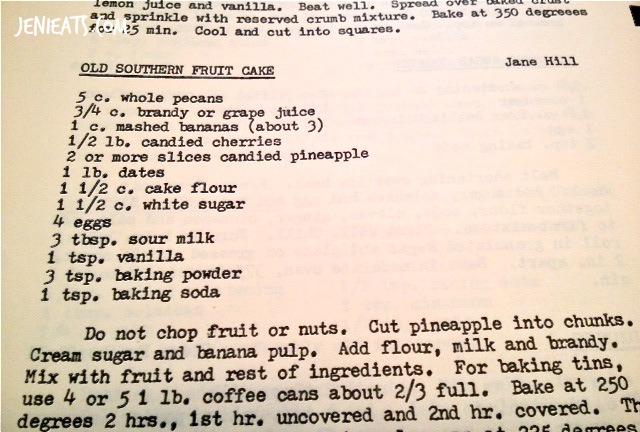 Old Fashioned Fruit Cake Recipe
